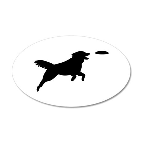 Dog Agility 35x21 Oval Wall Decal