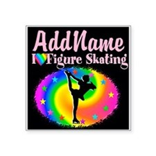 "GRACEFUL SKATER Square Sticker 3"" x 3"""