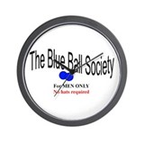 Blue Ball Society Wall Clock