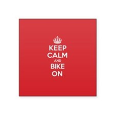 "Cute Keep calm and carry on parody Square Sticker 3"" x 3"""
