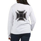 Chrome Flame Biker Cross T-Shirt