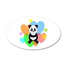 Panda Hearts Wall Sticker