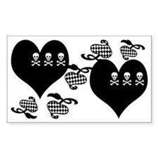 Skulls and Hearts Girl Punk Decal