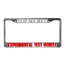 Test Vehicle License Plate Frame