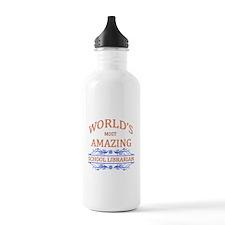 School Librarian Water Bottle
