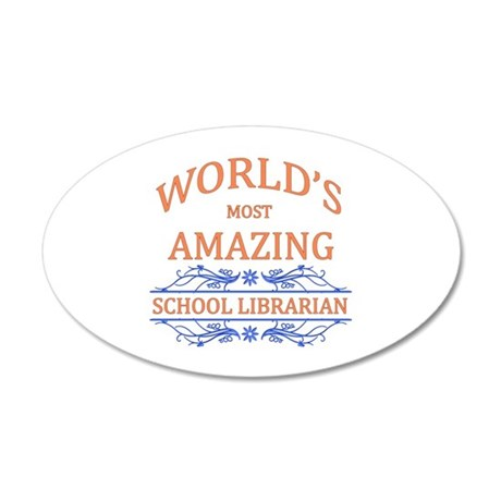School Librarian 35x21 Oval Wall Decal