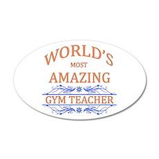 Gym Teacher 20x12 Oval Wall Decal