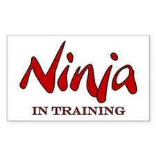 Ninja in Training Rectangle Decal