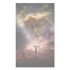 St Michael & The Crucifixion Rectangle Decal