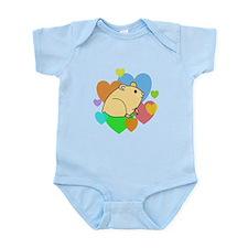 Hamster Hearts Infant Bodysuit