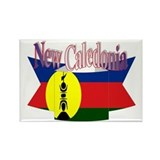 New Caledonian flag ribbon Rectangle Magnet
