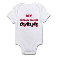 My SECOND COUSIN Loves Me Infant Bodysuit