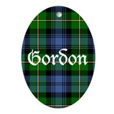 Tartan - Gordon Ornament (Oval)