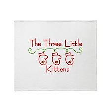 Three Little Kittens Throw Blanket