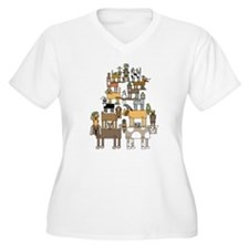 Acrobatic Pets Plus Size T-Shirt
