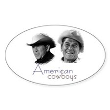 Reagan Bush Cowboys Oval Decal