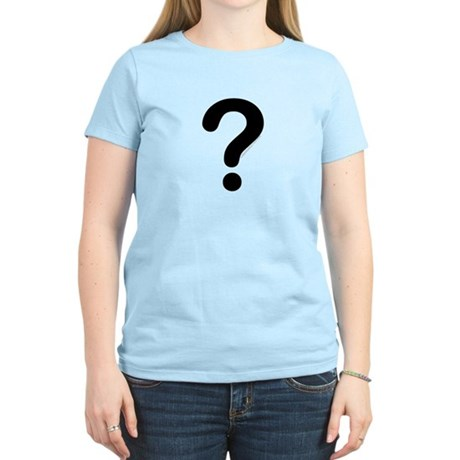 black question mark  Women's Light T-Shirt