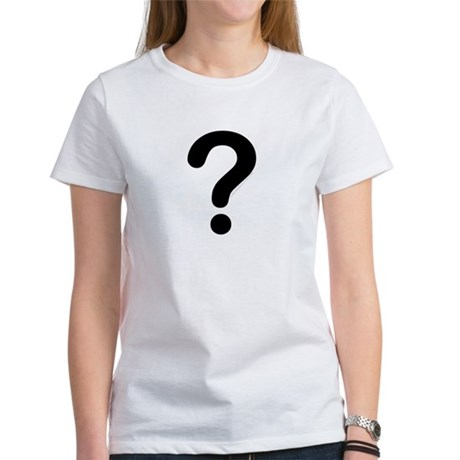 black question mark Women's T-Shirt