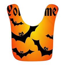 Personalized Halloween Bats Bib