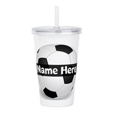 Personalized Soccer Ball Acrylic Double-wall Tumbl