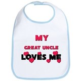 My GREAT UNCLE Loves Me Bib