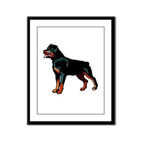 Rottweiler Framed Panel Print