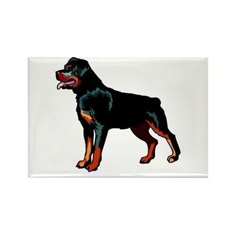 Rottweiler Rectangle Magnet (10 pack)