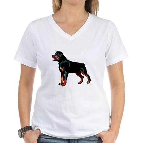 Rottweiler Women's V-Neck T-Shirt