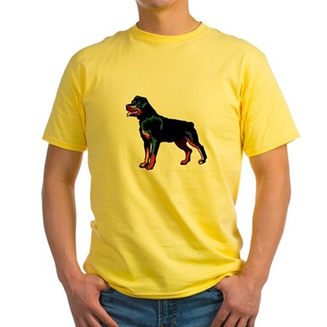 Rottweiler Yellow T-Shirt