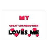My GREAT GRANDMOTHER Loves Me Postcards (Package o