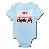 My GREAT GRANDMOTHER Loves Me Infant Bodysuit