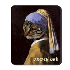 Cat VERMEER EARRING Mousepad
