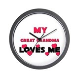 My GREAT GRANDMA Loves Me Wall Clock