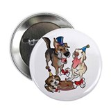 Birthday Dogs Button