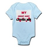My GREAT AUNT Loves Me  Baby Onesie