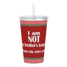 Disown Responsibility Acrylic Double-wall Tumbler