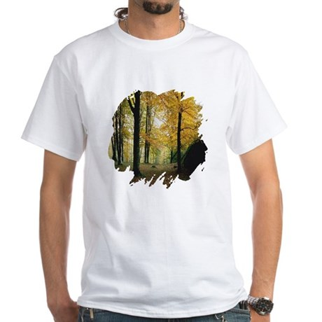 Autumn Woods White T-Shirt