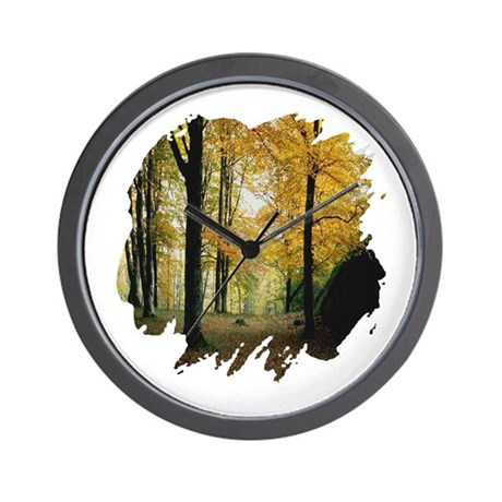 Autumn Woods Wall Clock
