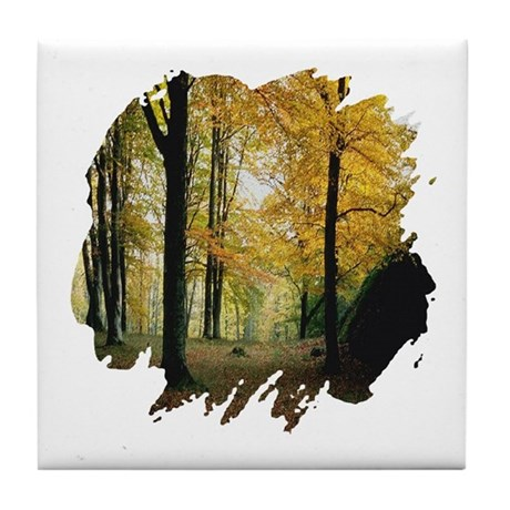 Autumn Woods Tile Coaster