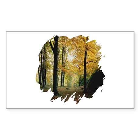 Autumn Woods Rectangle Sticker