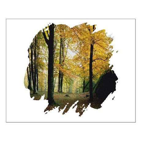 Autumn Woods Small Poster