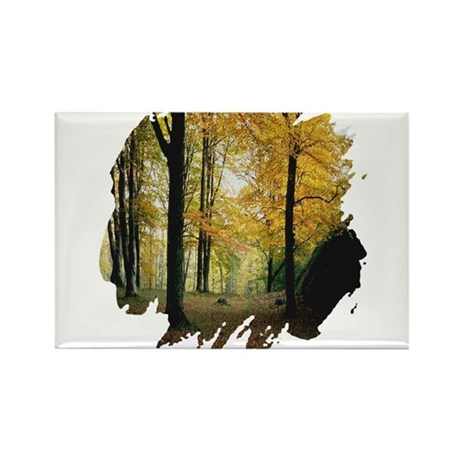 Autumn Woods Rectangle Magnet