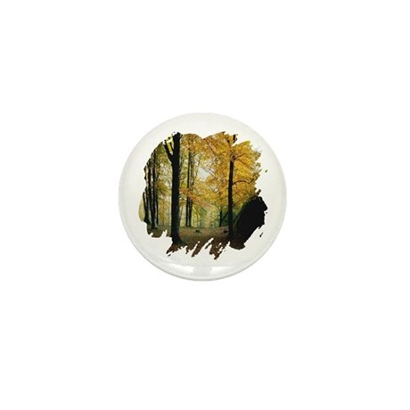 Autumn Woods Mini Button (100 pack)