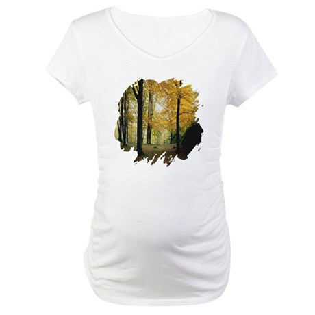 Autumn Woods Maternity T-Shirt