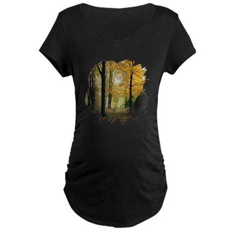 Autumn Woods Maternity Dark T-Shirt