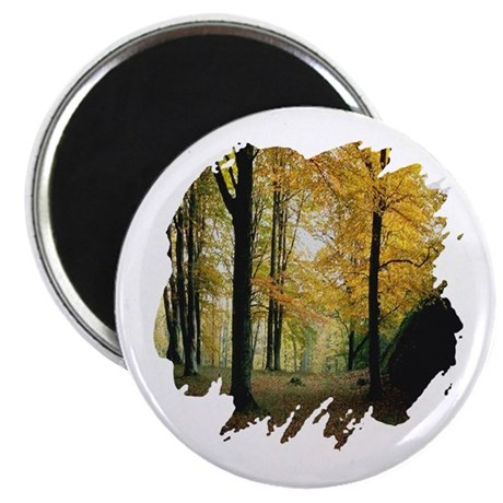 Autumn Woods 2.25&quot; Magnet (100 pack)
