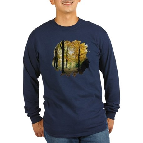 Autumn Woods Long Sleeve Dark T-Shirt