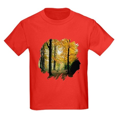 Autumn Woods Kids Dark T-Shirt