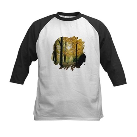 Autumn Woods Kids Baseball Jersey