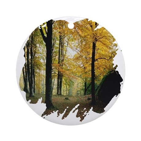 Autumn Woods Ornament (Round)
